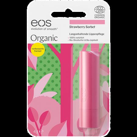 Bild: eos Organic Lippenpflege Erdbeersorbet  eos Organic Lippenpflege Erdbeersorbet