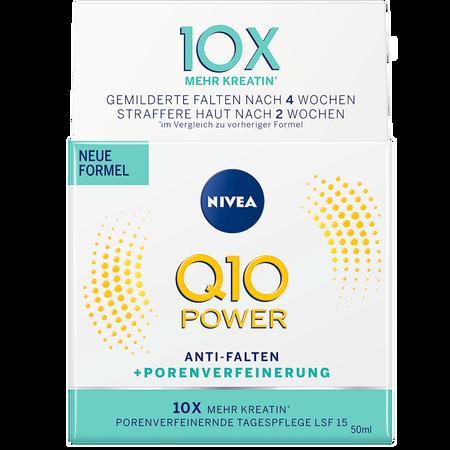 NIVEA Q10 Power Anti-Falten+Porenverfeinerung Tagespflege LSF 15