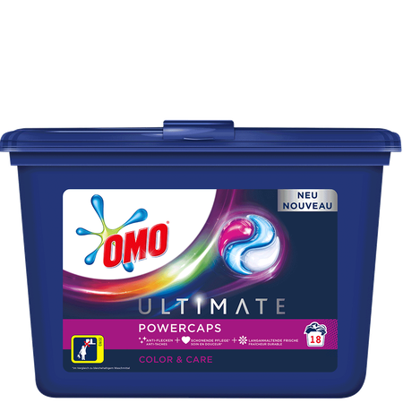 OMO Ultimate Power Waschmittel Color & Care Caps