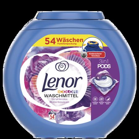 Lenor All in 1 Pods Colorwaschmittel Strahlendes Blütenbouquet