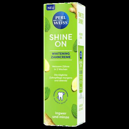 PERLWEISS Shine On Whitening Zahncreme Ingwer Minze
