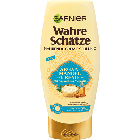GARNIER Wahre Schätze nährende Creme-Spülung Argan-Mandel Creme