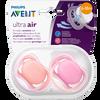 Bild: PHILIPS AVENT Schnuller Ultra Air, 6-18 Monate, orange/rosa