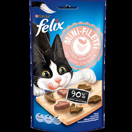 Felix Mini-Filetti Leckere Hühnchen- und Lachs-Stückchen