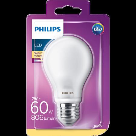 PHILIPS LED Lampe 60W E27 matt