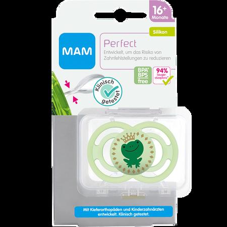 MAM Schnuller Perfect, 16+ Monate, Silikon, grün