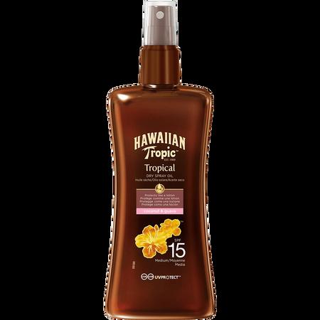 Hawaiian Tropic Tropical Dry Spray Oil LSF 15