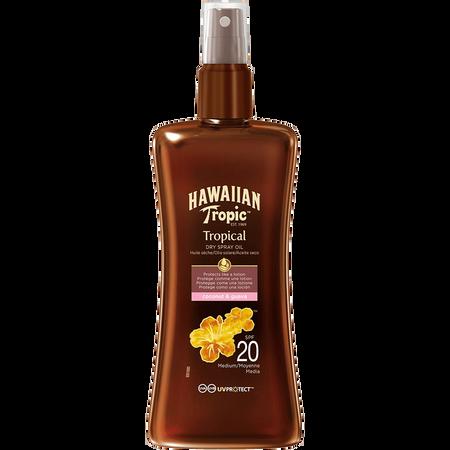 Hawaiian Tropic Tropical Dry Spray Oil LSF 20