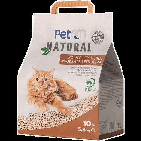 PetQM Natural Holzpellets Ultra Katzenstreu