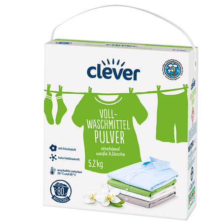 clever Vollwaschmittel Pulver
