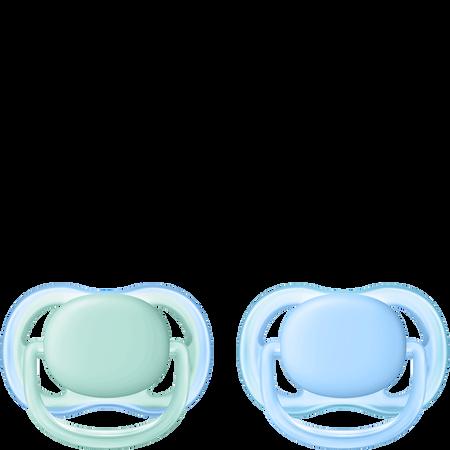 PHILIPS AVENT Schnuller Ultra Air, 0-6 Monate, türkis/blau