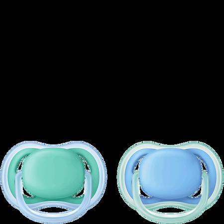 PHILIPS AVENT Schnuller Ultra Air, 6-18 Monate, türkis/blau