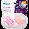 Bild: PHILIPS AVENT Schnuller Ultra Air, 6-18 Monate, Princess orange/rosa