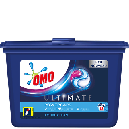 OMO Ultimate Waschmittel Active Clean Power Caps
