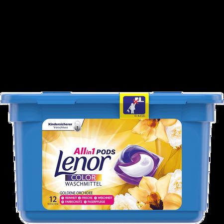 Lenor All in 1 Pods Colorwaschmittel goldene Orchidee