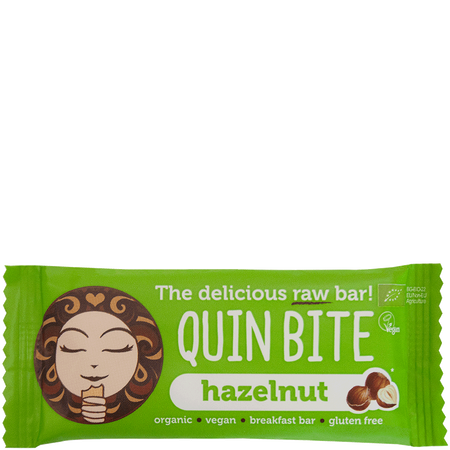 QUIN BITE Hazelnut Raw Bar Riegel