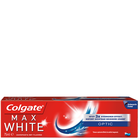 Bild: Colgate Max White Optic Zahncreme  Colgate Max White Optic Zahncreme
