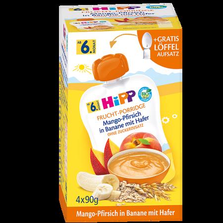 HiPP Frucht-Porridge Mango-Pfirsich in Banane mit Hafer