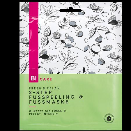 BI CARE 2-Step Fusspeeling & Fussmaske Fresh & Relax