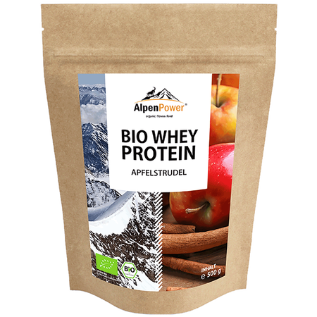 AlpenPower Bio Whey Protein Apfelstrudel
