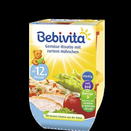 Bebivita Gemüse-Risotto mit zartem Hühnchen