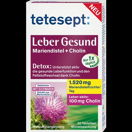 tetesept: Leber Gesund Mariendistel +Cholin Tabletten