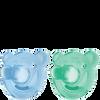 Bild: PHILIPS AVENT Schnuller Soothie, 0-3 Monate, blau/grün