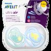 Bild: PHILIPS AVENT Schnuller Ultra Air, 0-6 Monate, Wolke/Dino türkis/blau