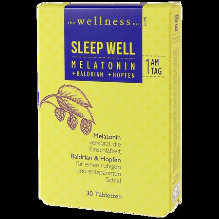 the wellness co. Sleep Well Melatonin Tabletten