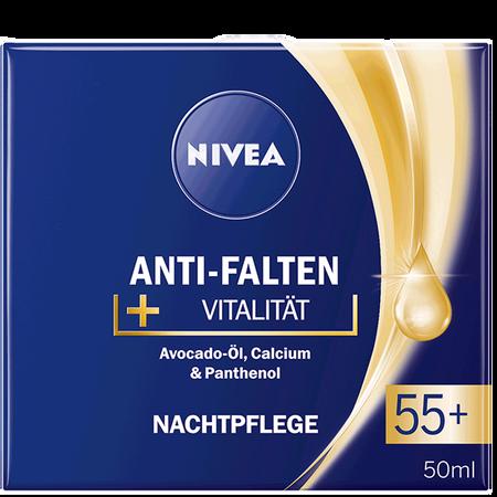NIVEA Anti-Falten + Vitalität Nachtplfege 55+