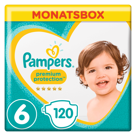 Pampers Premium Protection Gr.6 Extra Large 13-18kg Monatsbox
