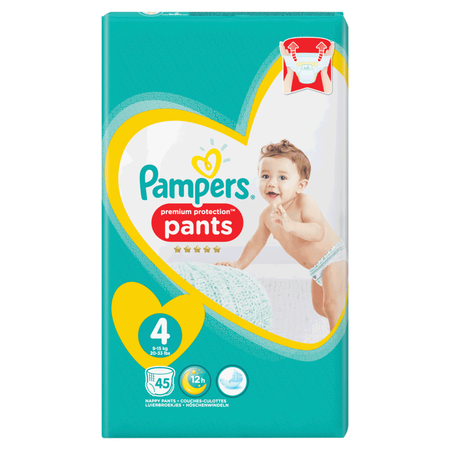 Pampers Premium Protection Pants Gr. 4 (9-15kg) Jumbo Pack