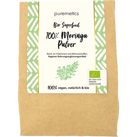 puremetics Bio Moringa Pulver Superfood