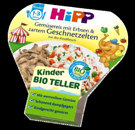 HiPP Gemüsereis mit Erbsen & Geschnetzelten