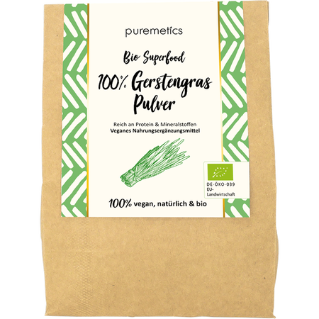 puremetics Bio Gerstengraspulver Superfood