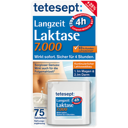 tetesept: Langzeit Laktase 7.000 Tabletten