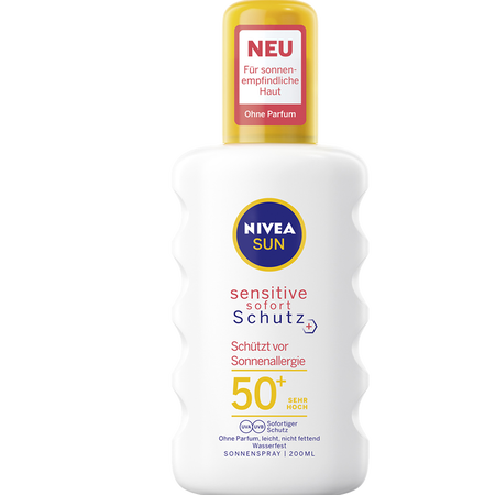 NIVEA Sun Sensitiv Sofort Schutz Spray LSF 50+