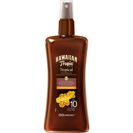 Hawaiian Tropic Tropical Dry Spray Oil LSF 10
