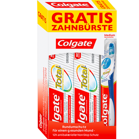 Colgate Total Original Zahncreme +  gratis Zahnbürste