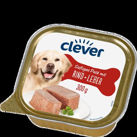 clever Saftiges Paté mit Rind + Leber Hundefutter
