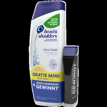 head & shoulders Citrus Fresh Shampoo + Mini