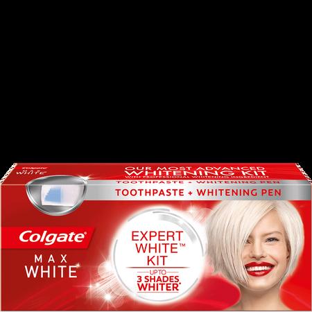 Colgate Max White Expert White Kit Zahncreme mit Stift