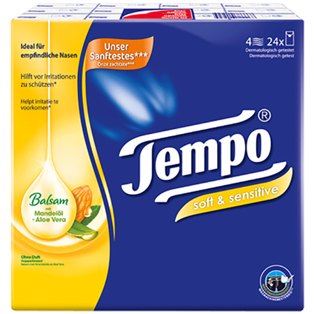 Tempo soft & sensitive plus Taschentücher