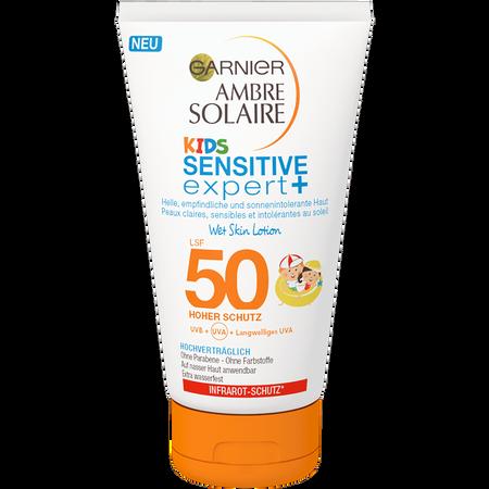 GARNIER AMBRE SOLAIRE Kids Sensitive Expert+ Wet Skin Lotion LSF 50