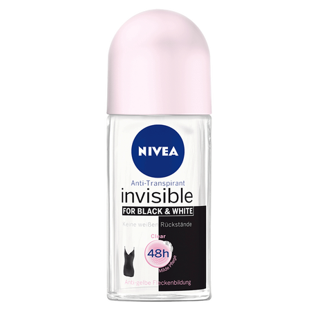 NIVEA Roll-on Invisible Black&White Clear