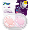 Bild: PHILIPS AVENT Schnuller Ultra Air, 0-6 Monate, orange/rosa