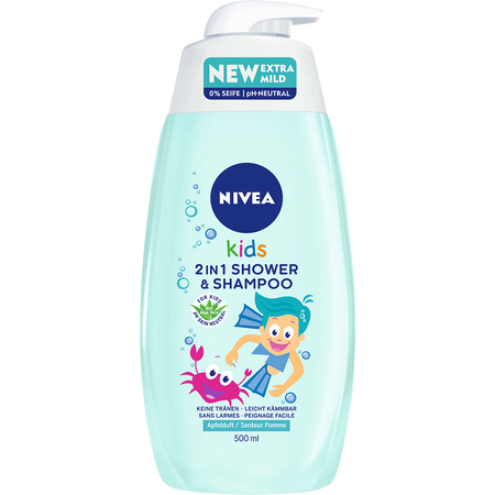 NIVEA Kids 2in1 Shower & Shampoo Apfel
