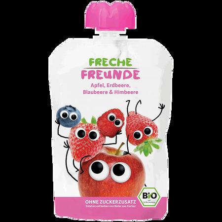 Freche Freunde Quetschbeutel Apfel, Erdbeere, Blaubeere & Himbeere