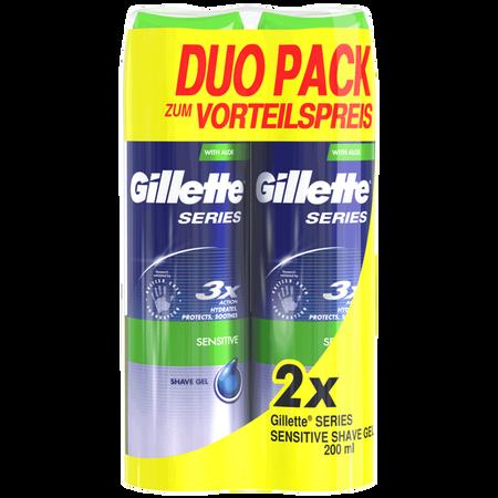 Gillette Series Sensitive Rasiergel Duopack