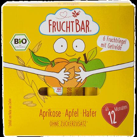 FruchtBar 6 Bio Fruchtriegel mit Getreide Aprikose Apfel Hafer
